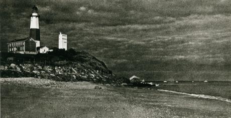 Montauk Lighthouse with stormy skies